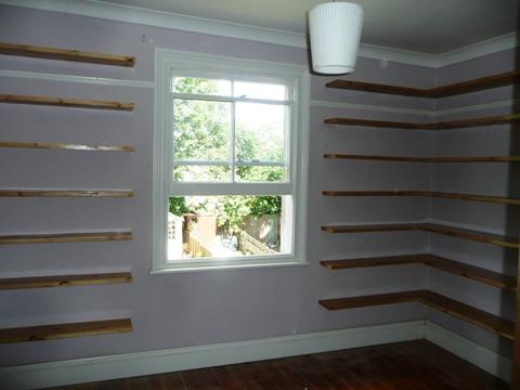 custom house shelves